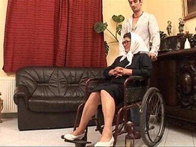Mature grandame and a grandson fucking sex | -hardcore-mature-old man-