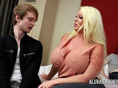 Cuckold threesome sex with big tit pornstar alura jenson   -3some-cuckold-old and young-pornstar-