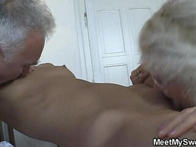 She fucks with his parents when he left | -grandpa-