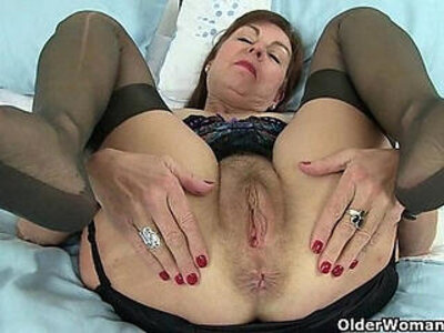 British granny Amanda and her sex toy | -british-toys-uniform-