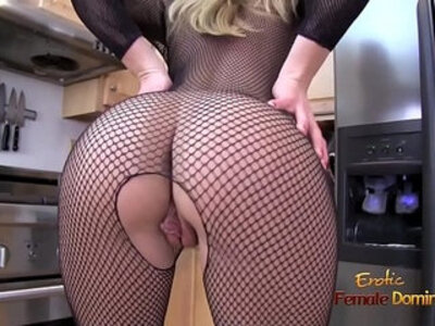 Blonde amateur MILF ripping off her full body fishnet stockings | -blonde-fishnets-milf-stockings-