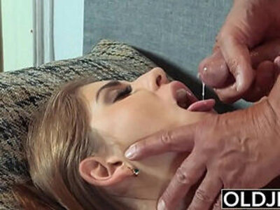 Pretty Girl Mouthful Of Cum And Anal With Cock | -anal-cock-cum-grandpa-pretty-young-