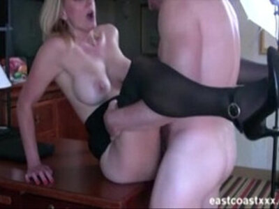 Hot MILF sucks fucks at interview to get the job | -cheating-interview-milf-