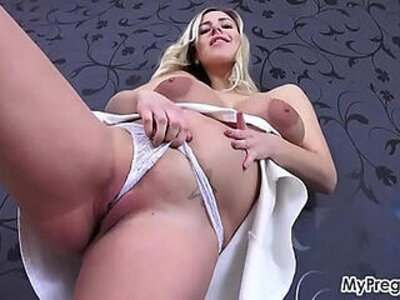 Sexy Striptease Leads to Hot Finger Fucking! | -fingering-pregnant-sexy-striptease-