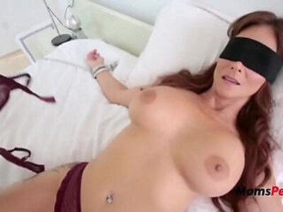 Blindfolded Mommy Thinks Its Her Hubby | -blindfolded-hubby-mommy-stepfamily-