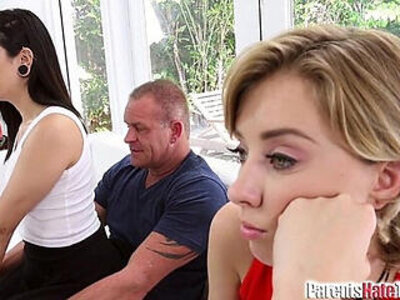 Malina Mars gives her Step Dad his gift | -stepdad-