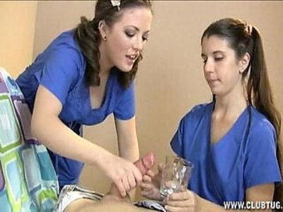 Two Nurses Milk Their Patient | -big cock-milk-nurse-