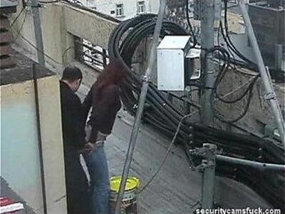 Spy Cam Catch Fucking on Roof Top   -ass fucking-spy-