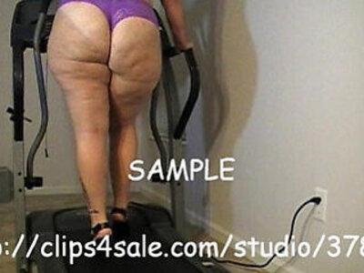Harmoney ranes treadmill tease | -huge tits-teasing-