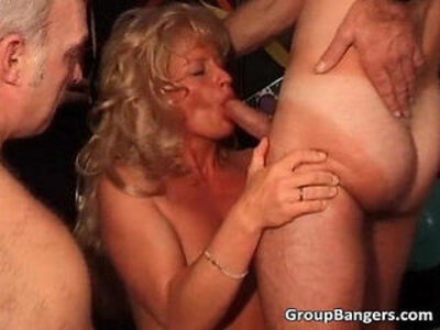 Party with ginger and blond milf | -blonde-orgy-party-readhead-swingers-