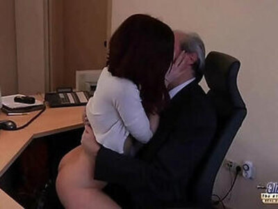 Old Young Porn My Sister Fucked Her Boss in the office and swallowed cum | -boss-cum-office-old and young-older-sister-