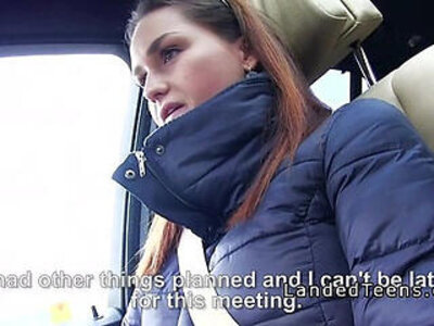 Busty teen flash tits and grab cock in car to stranger | -busty-car-cock-rimming-stranger-tits-