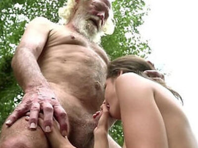 70 year old grandpa fucks 18 year old girl moans with pleasure and swallows | -18 years old-girl-grandpa-old man-older-pleasure-
