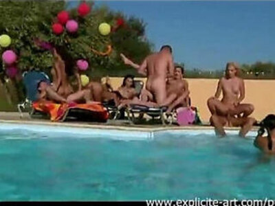 French orgy pool   -french-orgy-pool-swingers-