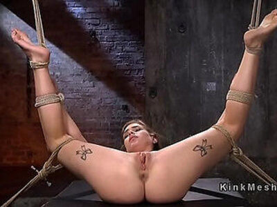 Hogtied blonde babe whipped and flogged | -blonde-punishment-whip-