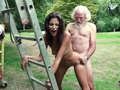 Old man plays a sex game with young girl have super hot sex | -games-old and young-old man-young-