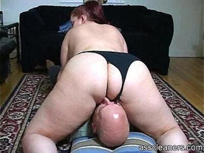 Chubby mistress sits her big fat ass on a face | -bbw-chubby-face fuck-huge ass-mistress-