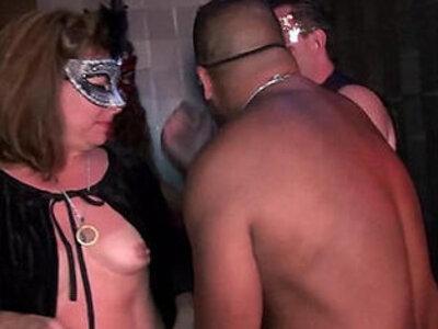 Young swingers mature MILFs suck fuck in Trapeze Club Eyes Wide Shut orgy | -cum-fiesta-mature-milf-orgy-sucking-