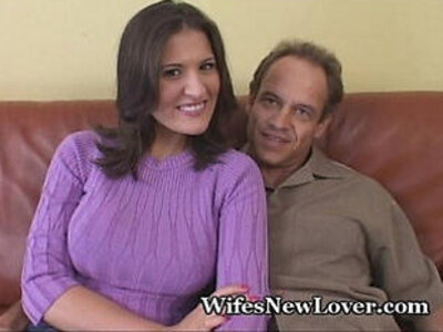 Wife Shows Wimpy Hubby Her New Lover | -hubby-tight-wife-