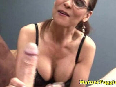 HJ loving old raven with sexy glasses   -glasses-older-sexy-