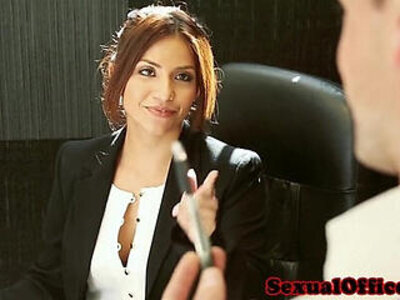 Office secretary Isabella De Santos jizzed | -jizz-office-secretary-