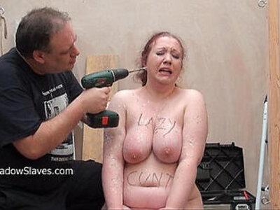 Brutal bbw bdsm and tool tortures of fat slaveslut punished to tears and drilled | -bbw-bdsm-brutal-drilling-fat-pain-
