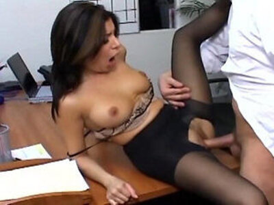 Busty secretary in sheer pantyhose has office sex | -busty-office-pantyhose-secretary-