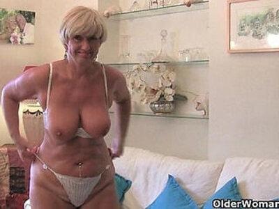 British and voluptuous granny Samantha | -british-grandma-granny-