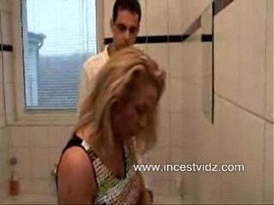 Mommys Seduction In The Bathroom | -bathroom-seduction-stepmom-