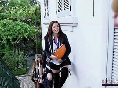 HARMONY VISION Schoolgirl Lesbians | -lesbian-rimming-school girl-