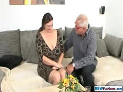 Old Man and German BBW | -bbw-german-grandpa-old man-