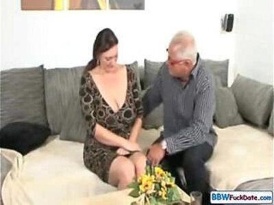 Old Man and German BBW   -bbw-german-grandpa-old man-
