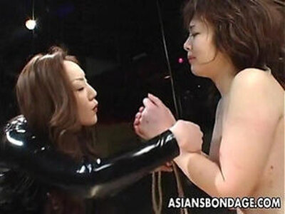 Asian bondage lezdom scene | -asian-bondage-