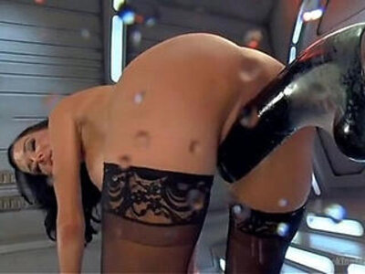 Hot babe has trembling orgasms on dildo machine | -babe-dildo-orgasm-sex machine-