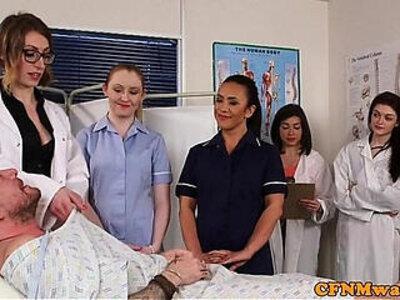 CFNM nurses cocksucking patient in group | -cfnm-group-nurse-