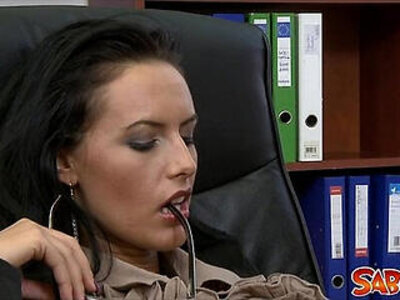 Busty Secretary gets anally fucked in the office | -busty-cowgirls-office-secretary-