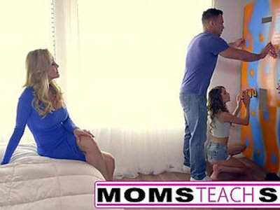 Teen caught by mom punished with fuck lesson | -caught-mom-punishment-school-stepmom-teen-